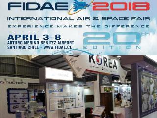 칠레 FIDAE 2018 전시회 참가